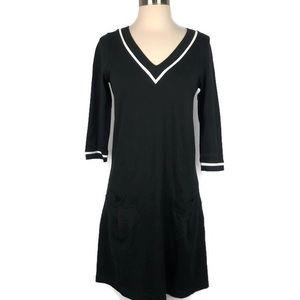 Lacoste Black V Neck Dress Size 10